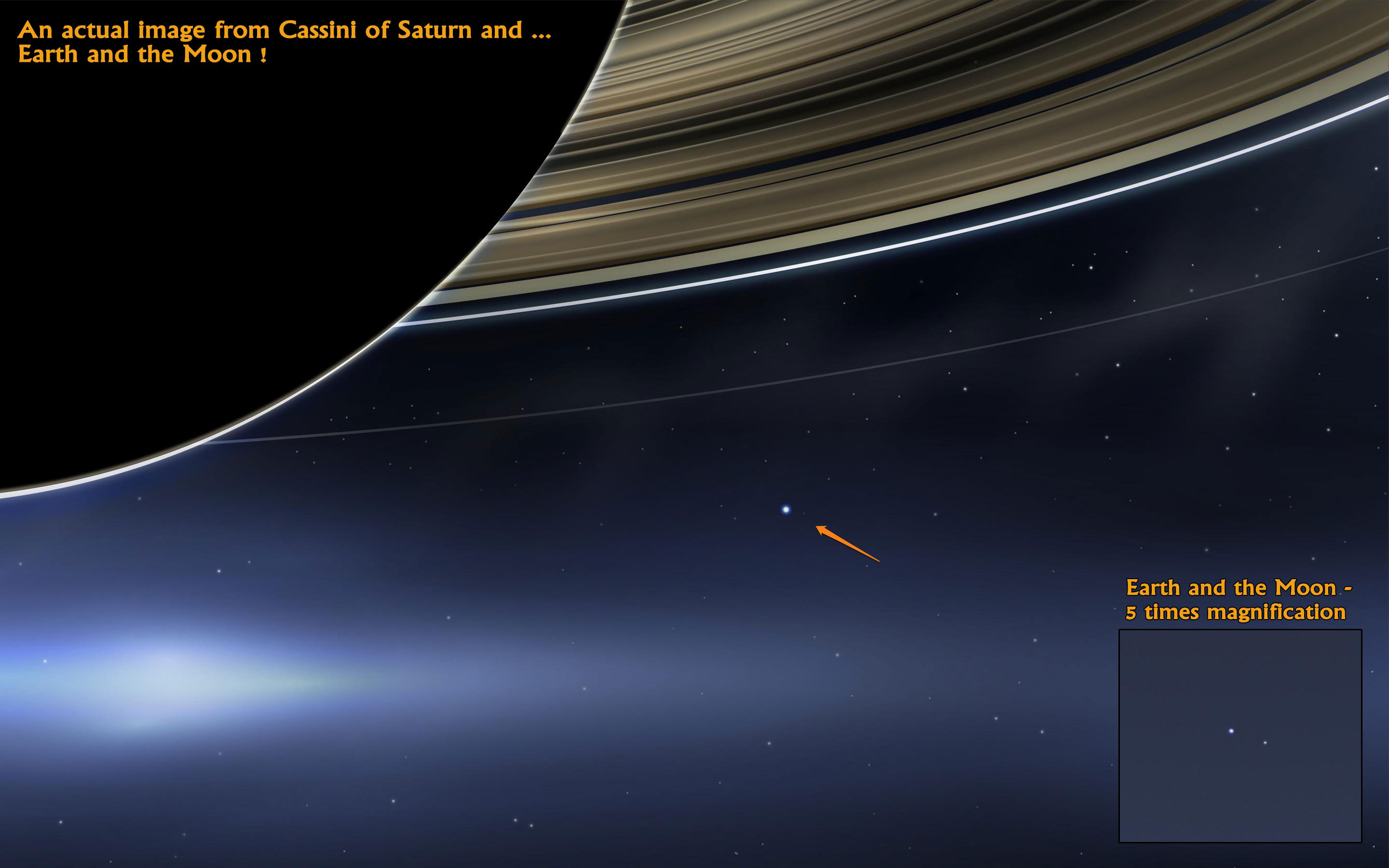 Earth-and-Moon-seen-from-Saturn   The Human Adventures in ...