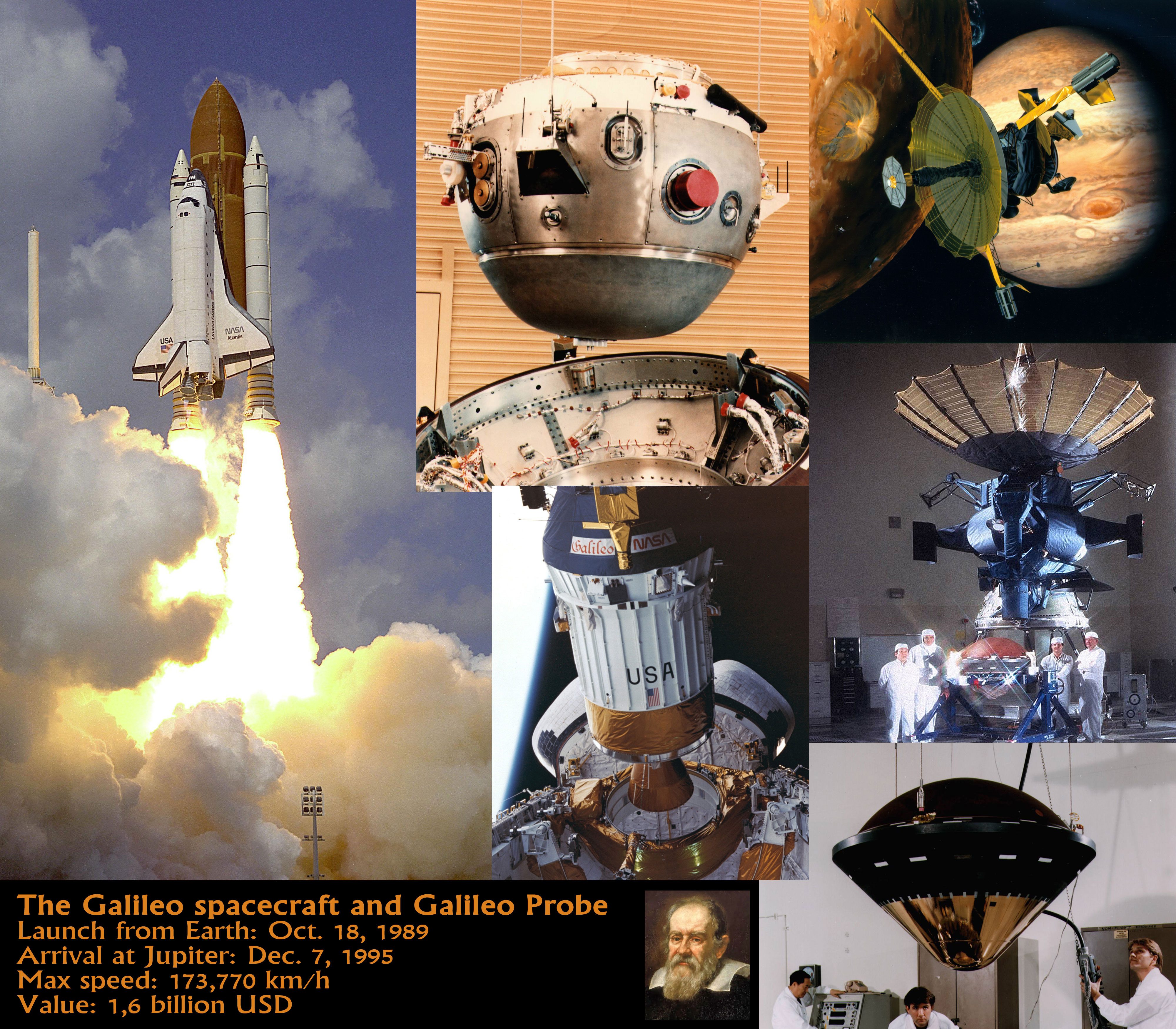 The-Galileo-Spacecraft-and-Probe | The Human Adventures in Space Exploration